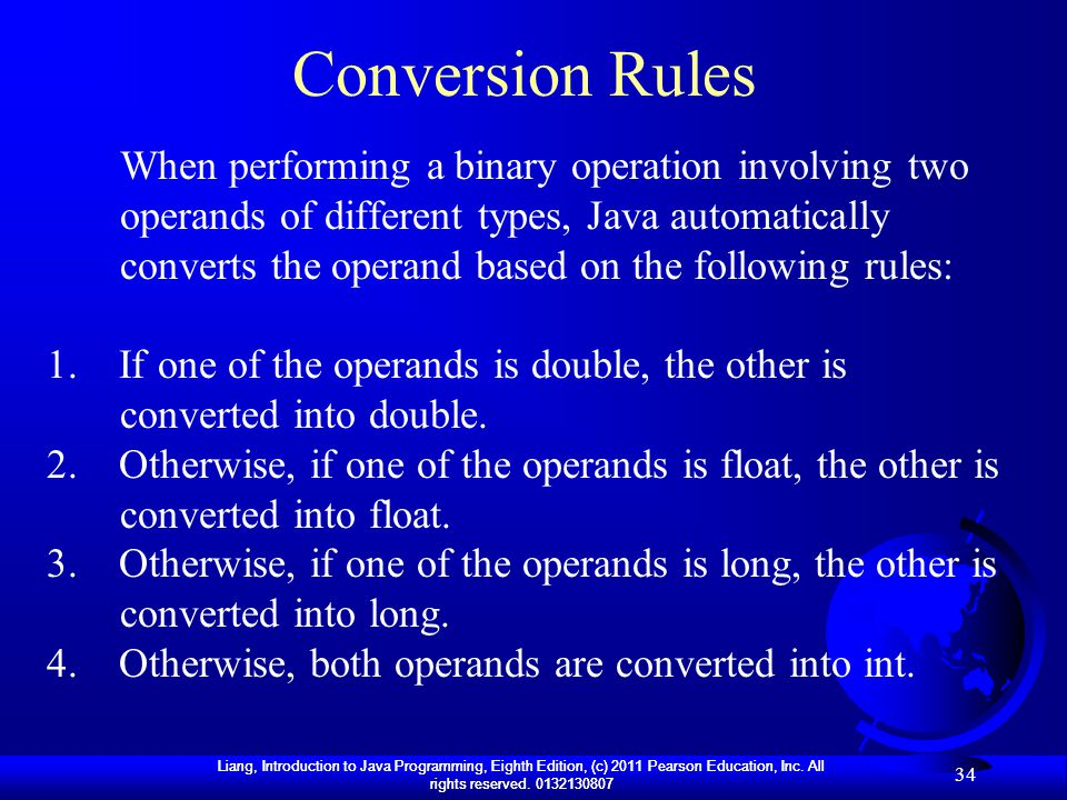 Conversion Rules