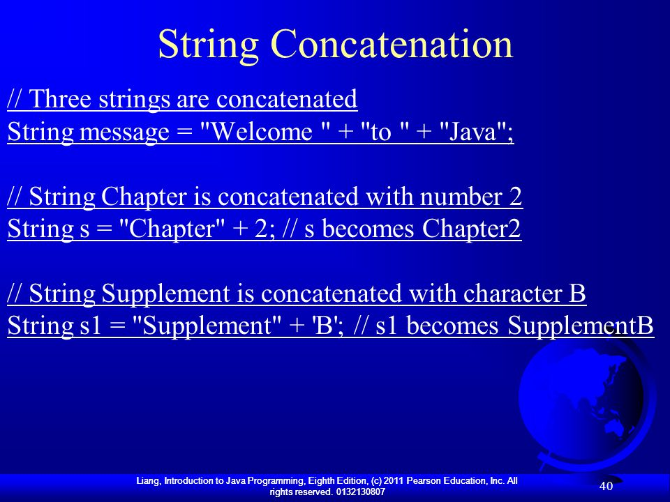 String Concatenation // Three strings are concatenated