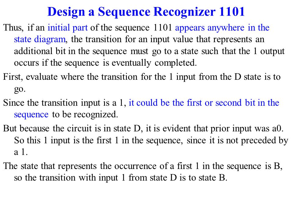 State machine design ppt video online download design a sequence recognizer 1101 ccuart