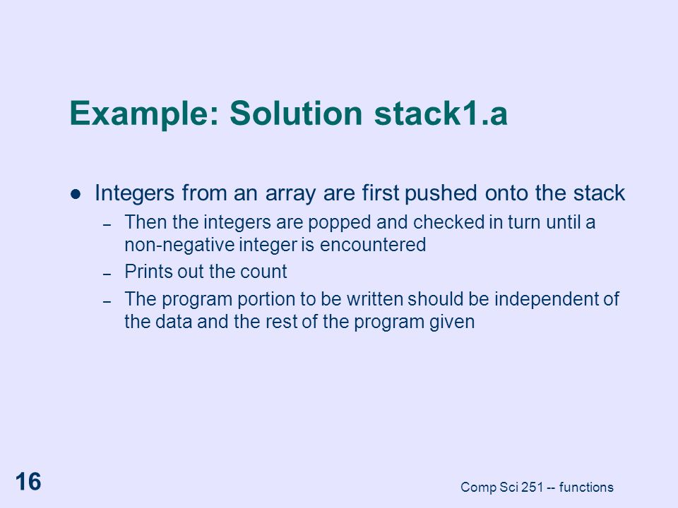 Example: Solution stack1.a