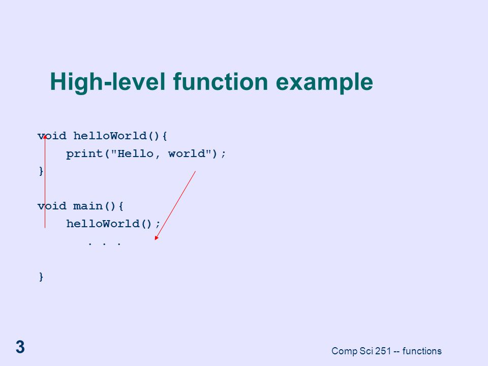 High-level function example