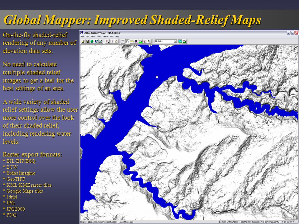 Global Mapper: The Swiss Army Knife For GIS! - ppt download