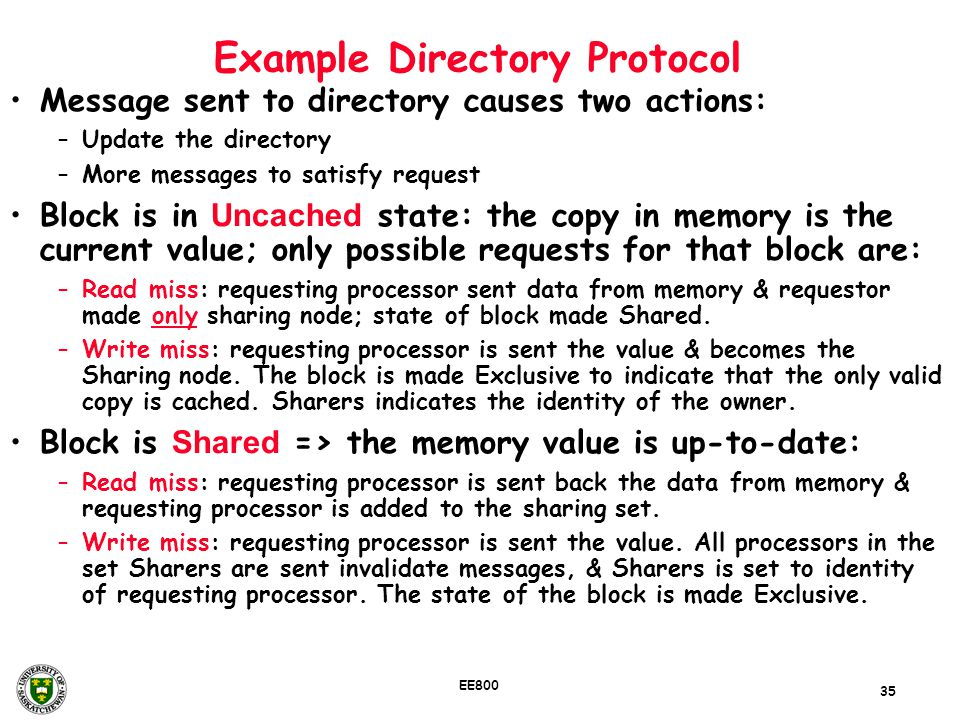 Example Directory Protocol