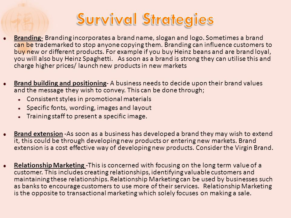 survival in business definition