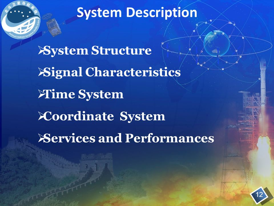 System Description System Structure Signal Characteristics Time System