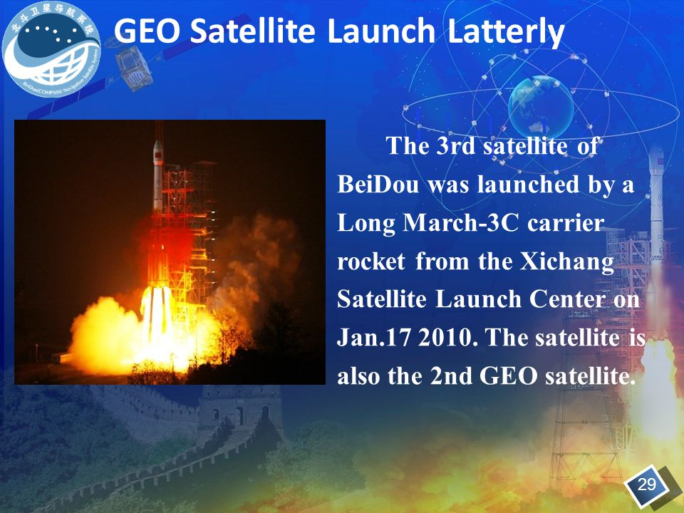 GEO Satellite Launch Latterly