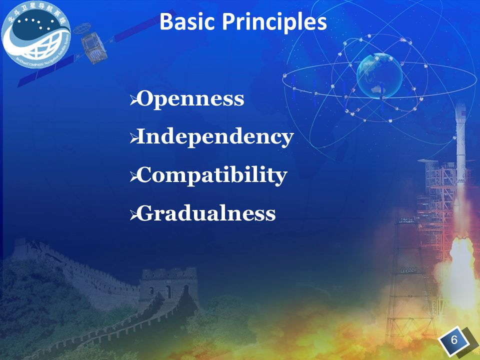 Basic Principles Openness Independency Compatibility Gradualness 6