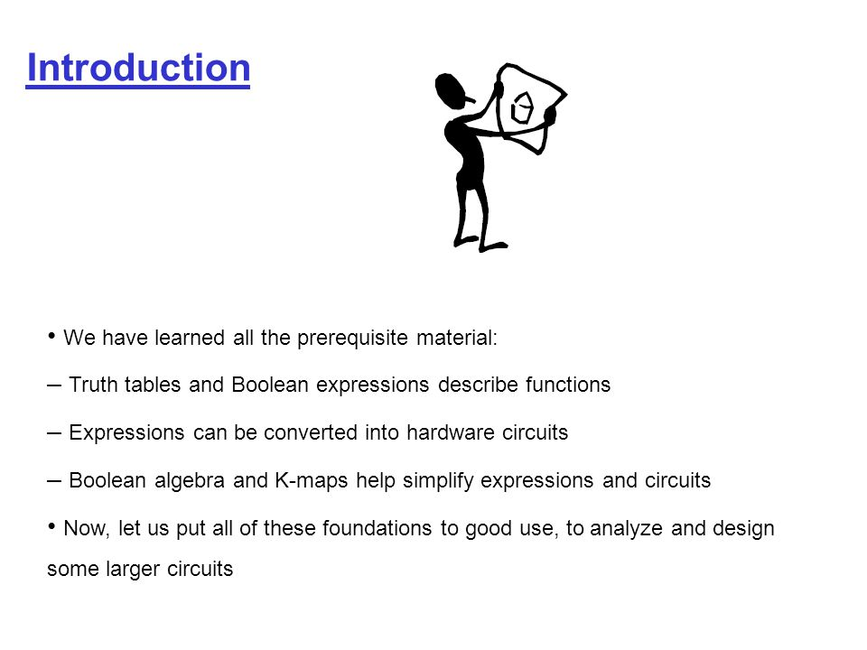 Introduction • We have learned all the prerequisite material: