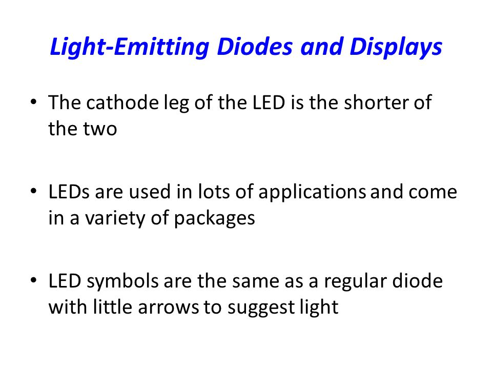 Lecture 4 Diode Led Zener Diode Diode Logic Ppt Video Online Download