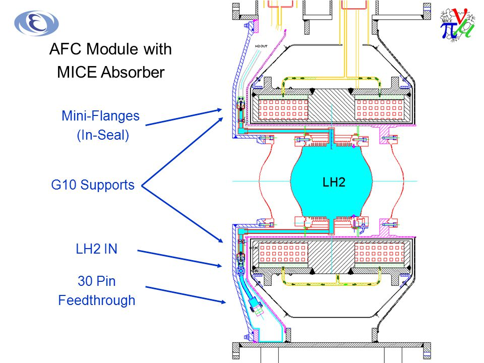 AFC Module with MICE Absorber Mini-Flanges (In-Seal) G10 Supports
