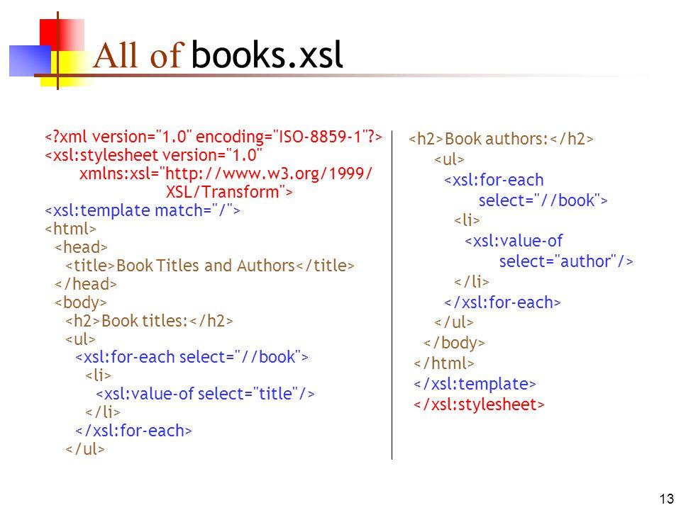 xsl stylesheet template.html