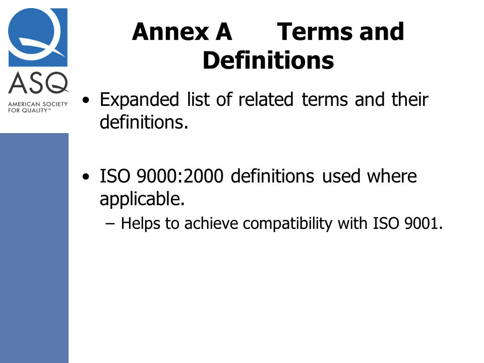 Annex A Terms and Definitions