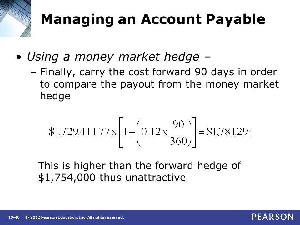 money market hedge payables