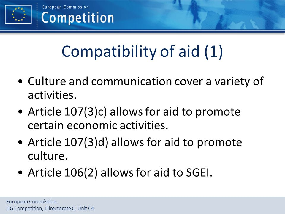 Compatibility of aid (1)