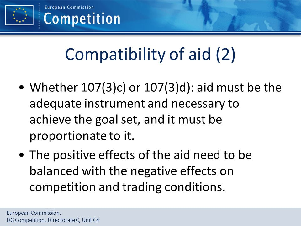 Compatibility of aid (2)