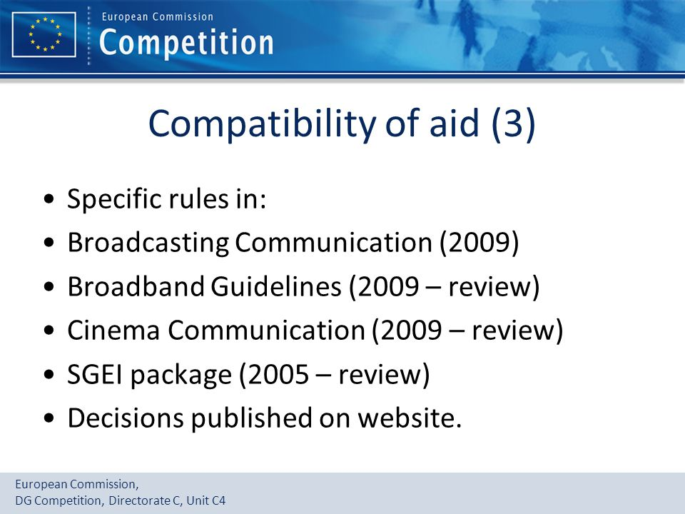 Compatibility of aid (3)