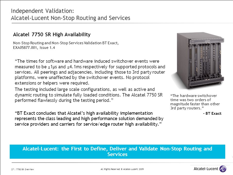 7750 Service Router Overview November ppt download