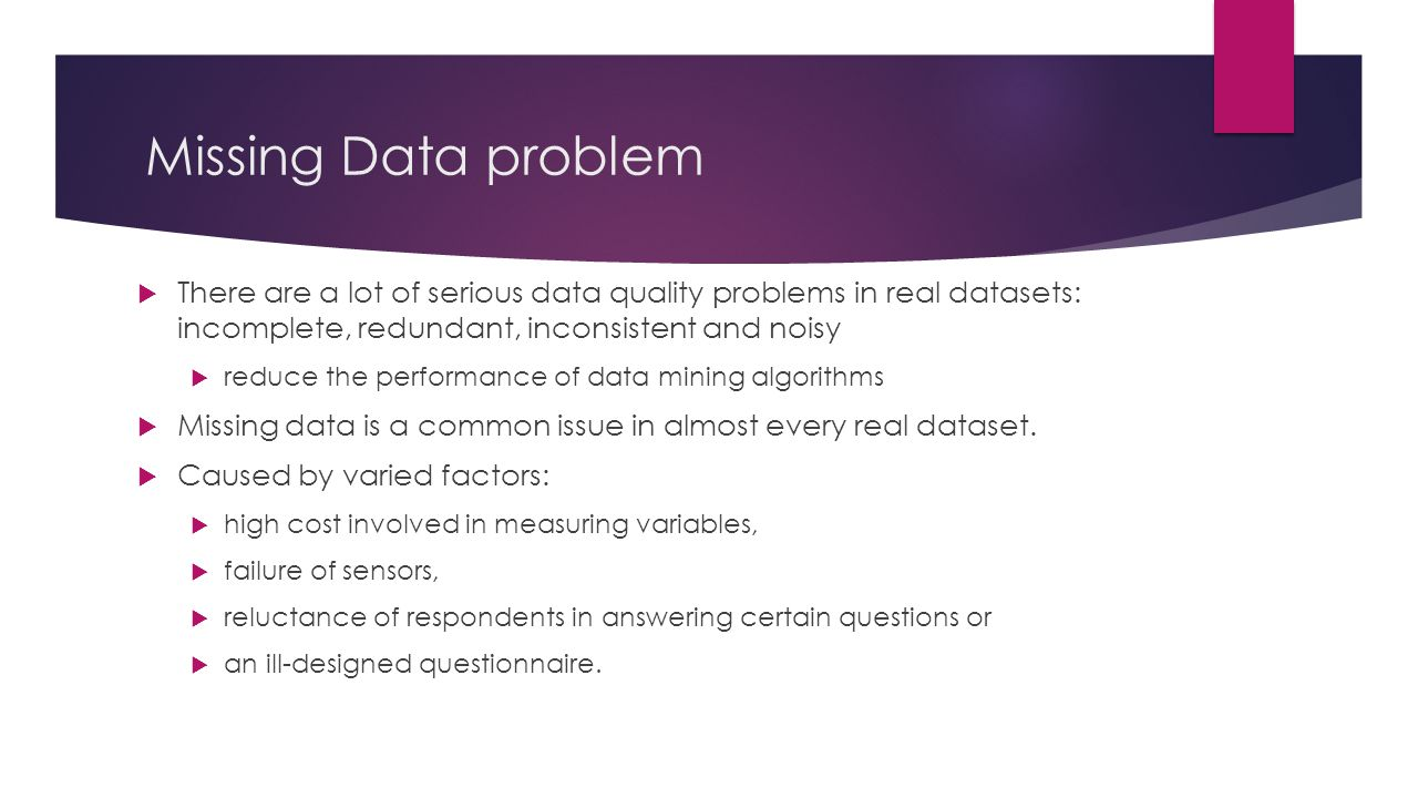 Missing values problem in Data Mining - ppt download