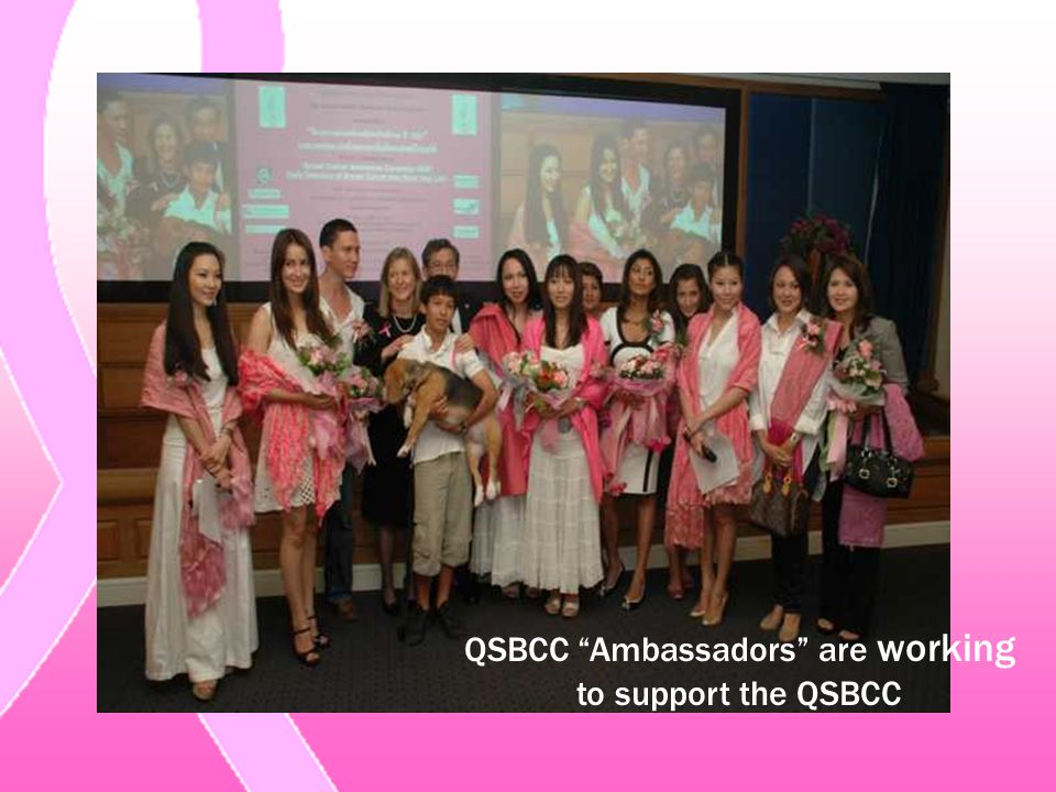 QSBCC Ambassadors are working to support the QSBCC