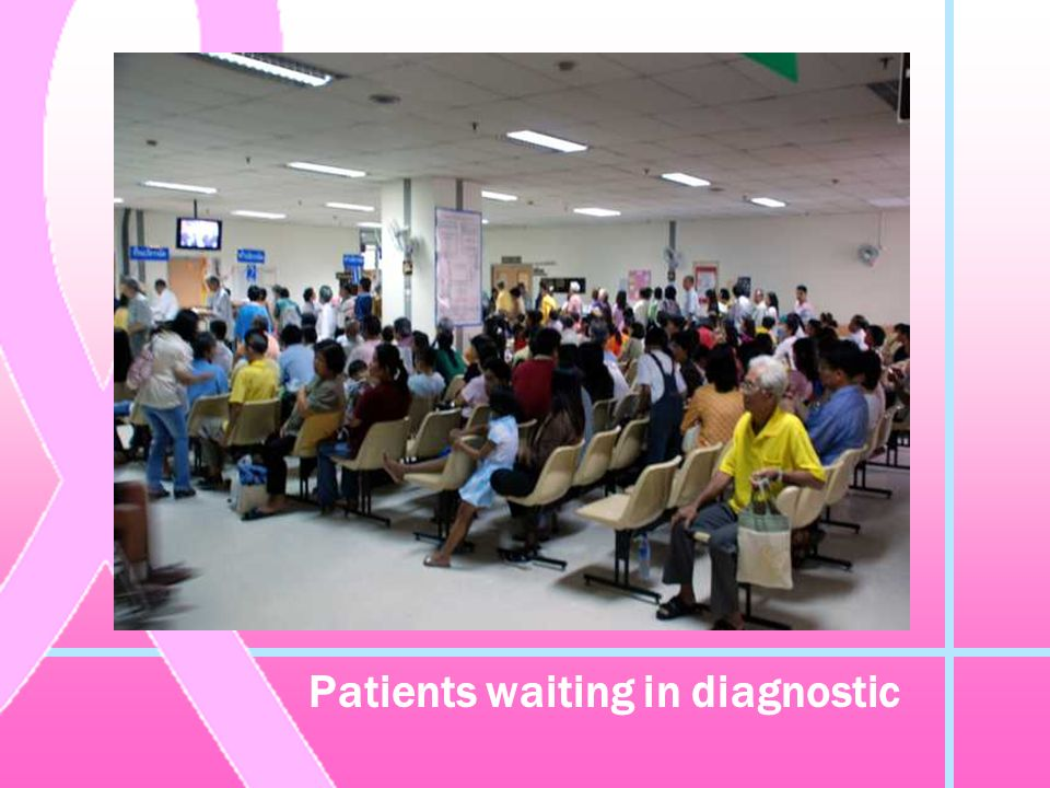 Patients waiting in diagnostic