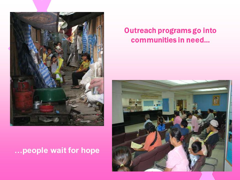 Outreach programs go into communities in need…