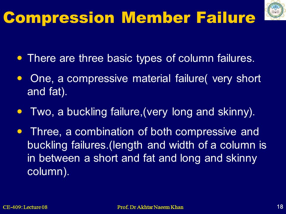 Compression Member Failure
