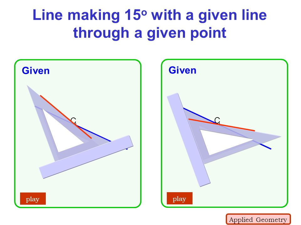 Line making 15o with a given line