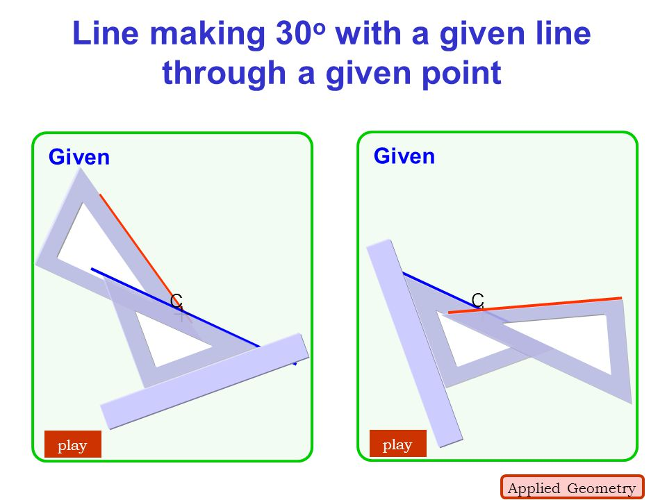 Line making 30o with a given line