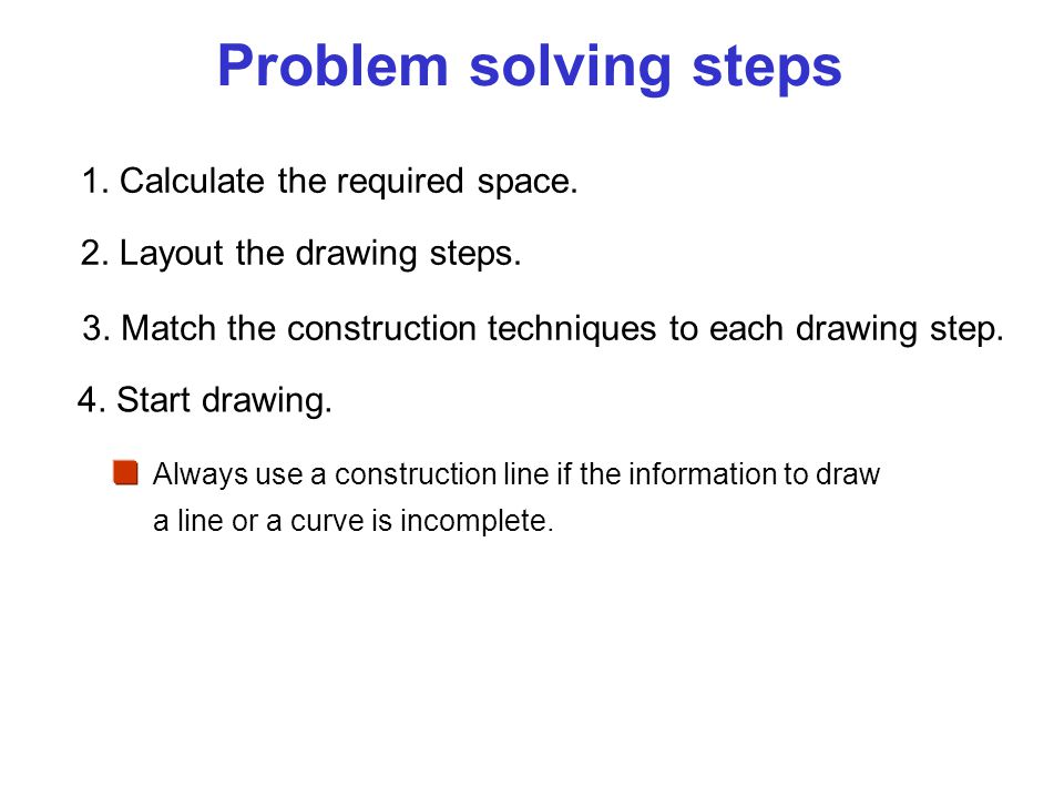 Problem solving steps 1. Calculate the required space.