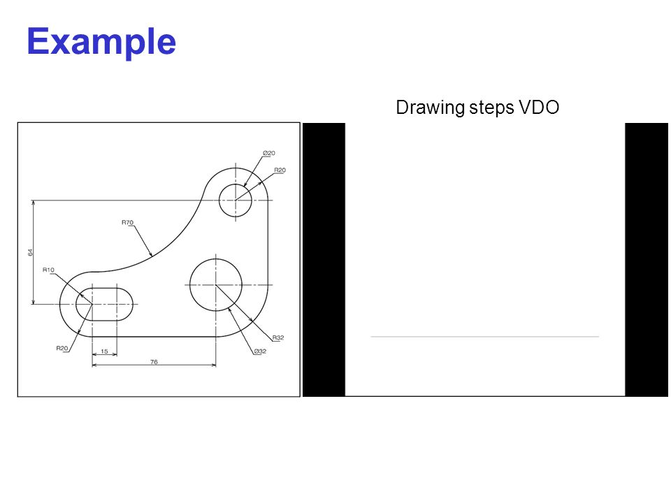 Example Drawing steps VDO