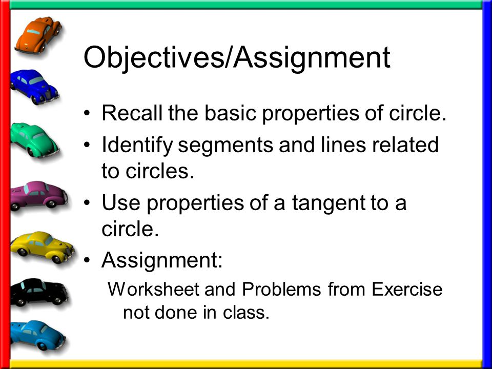 101 Tangents To Circles Geometry Ppt Download