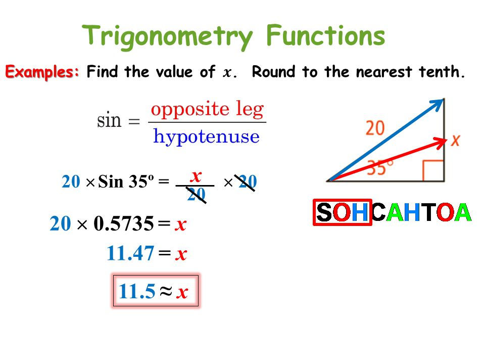 International Studies Charter School Right Triangle Trigonometry