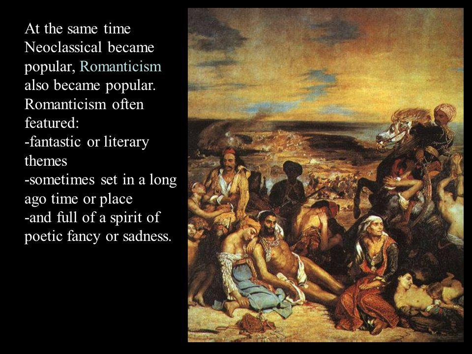 compare and contrast neoclassicism and romanticism literature