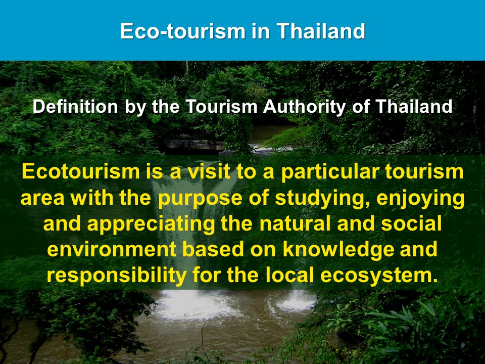 ECOTOURISM IN THAILAND PDF DOWNLOAD
