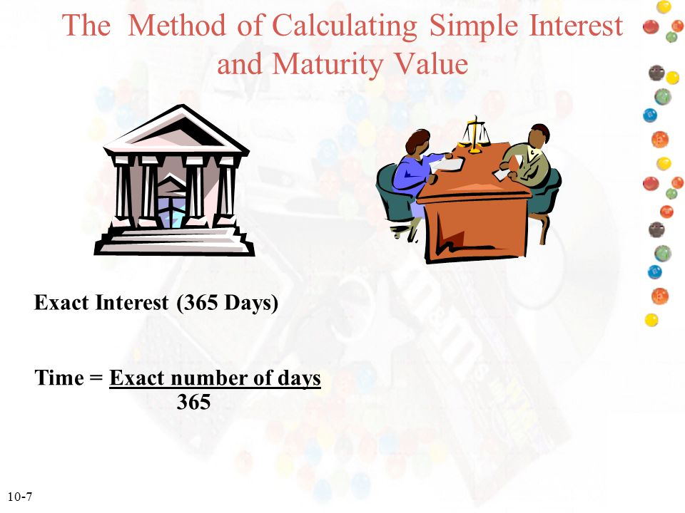 The Method of Calculating Simple Interest and Maturity Value