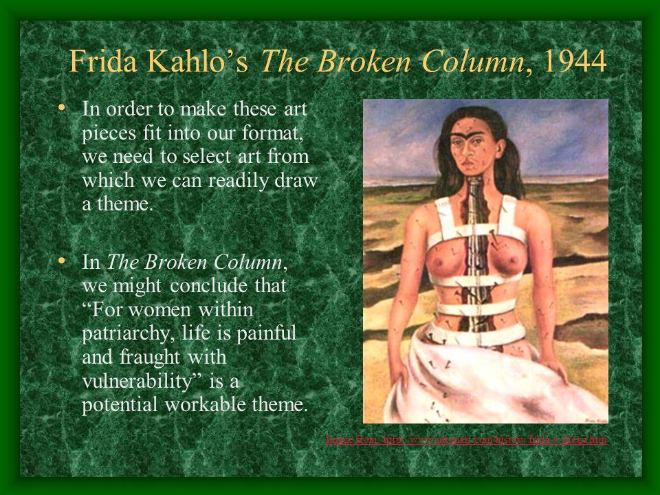 frida kahlo the broken column