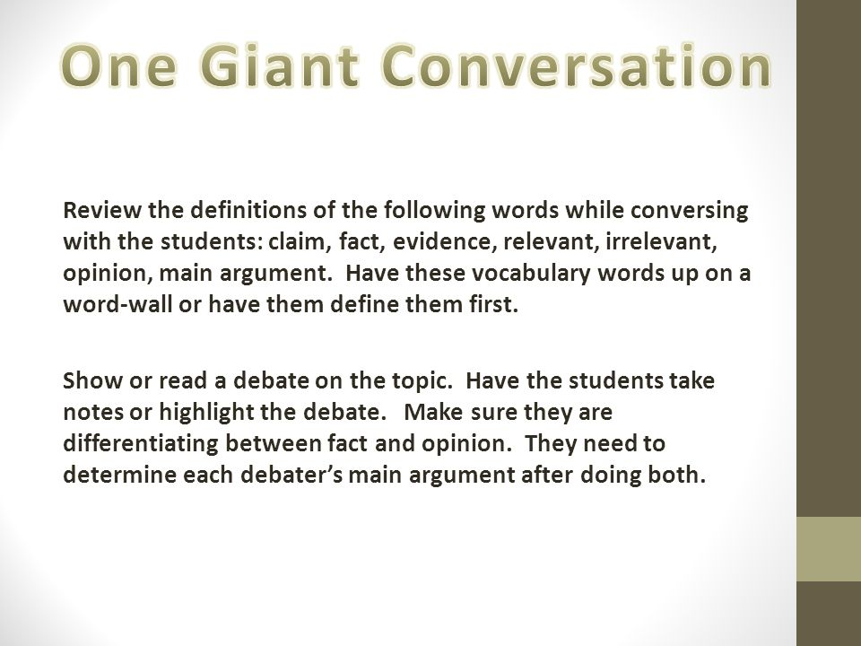 One Giant Conversation