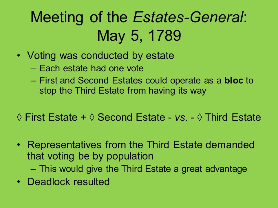 Longterm Causes Of The French Revolution Ppt Video Online Download. Meeting Of The Estatesgeneral May 5 1789. Wiring. 1789 Estates General Diagram At Scoala.co