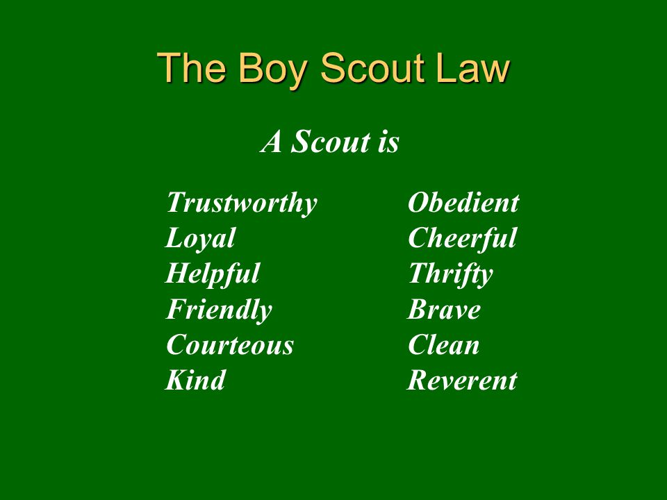 The Boy Scout Law A Scout is