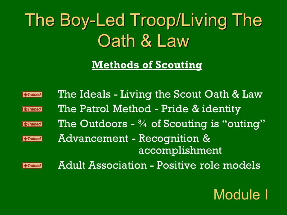 The Boy-Led Troop/Living The Oath & Law