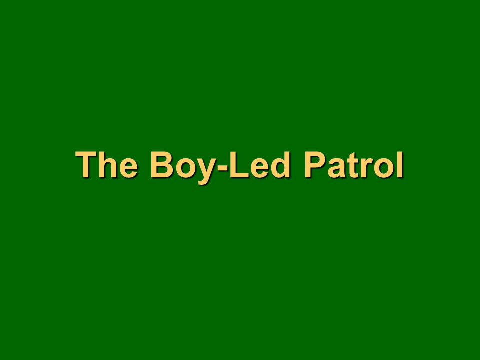 The Boy-Led Patrol