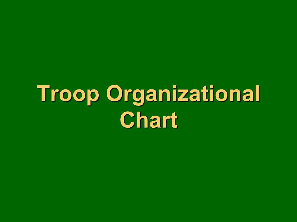 Troop Organizational Chart