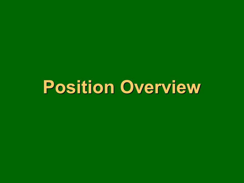 Position Overview