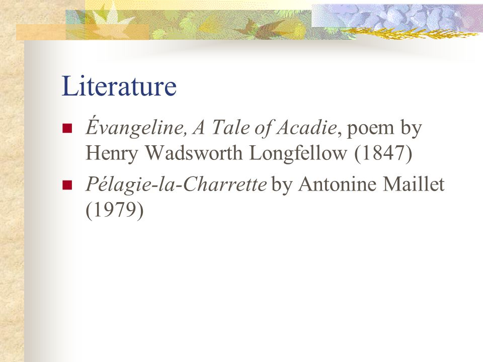 a tale of acadie pdf