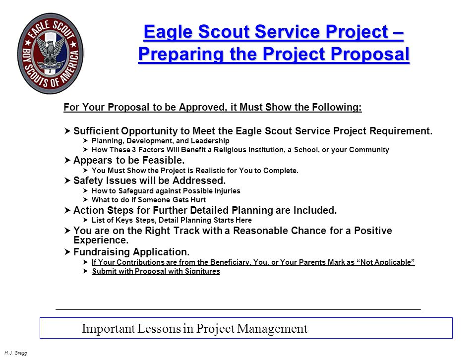 eagle scout project requirements 2019