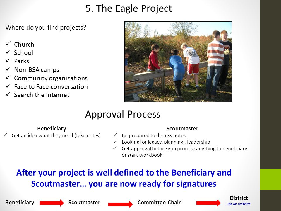 5. The Eagle Project Approval Process