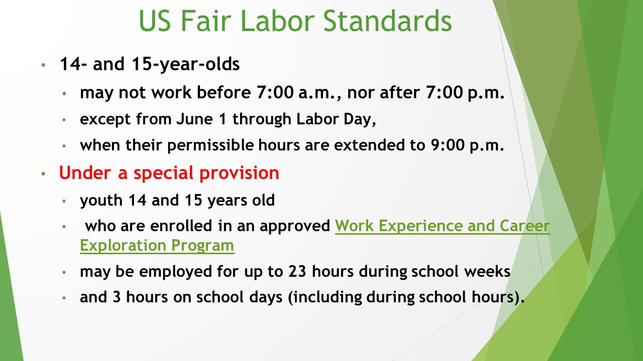 US Fair Labor Standards