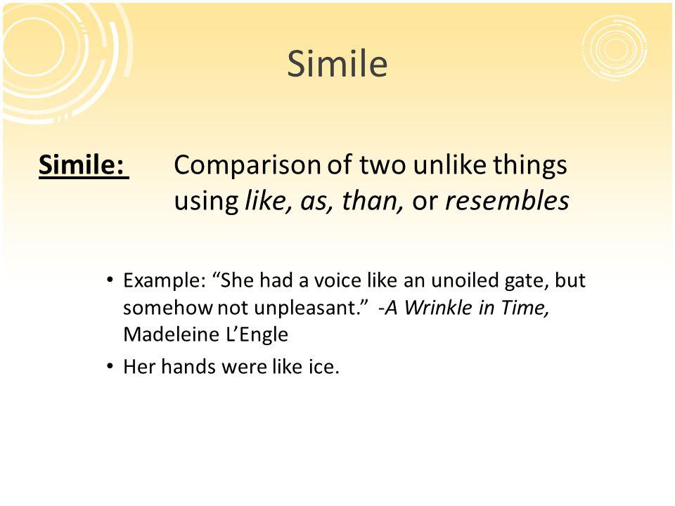 famous similes in literature