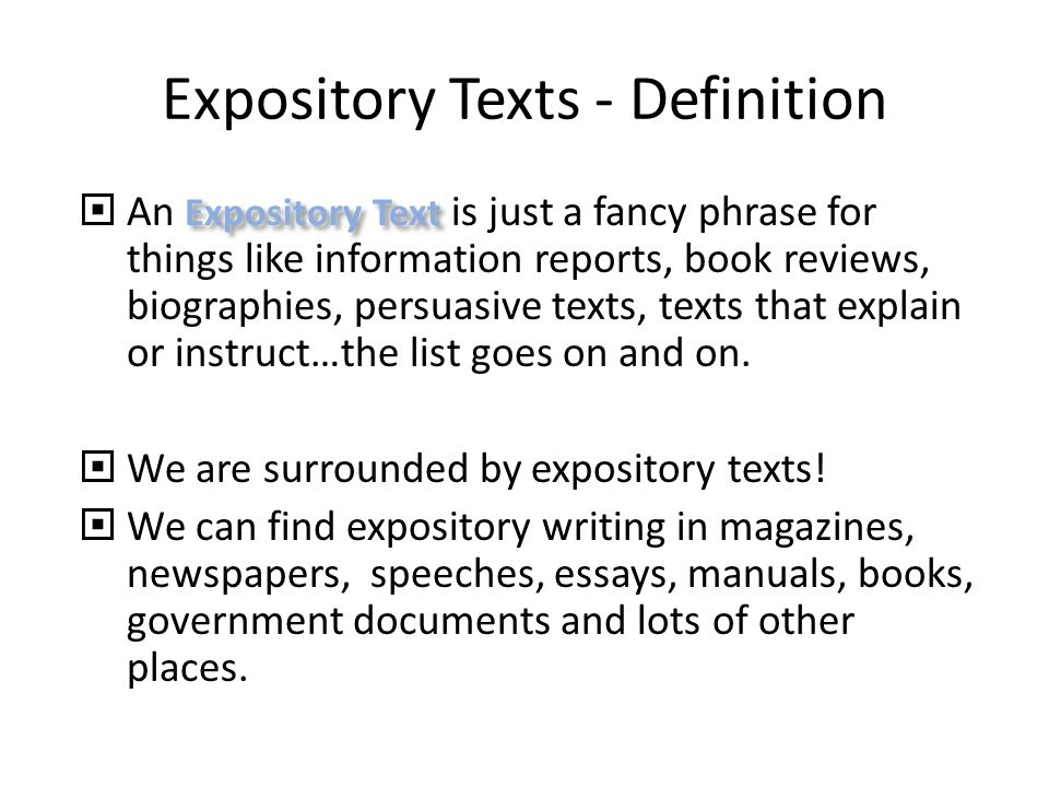 what does expository writing mean