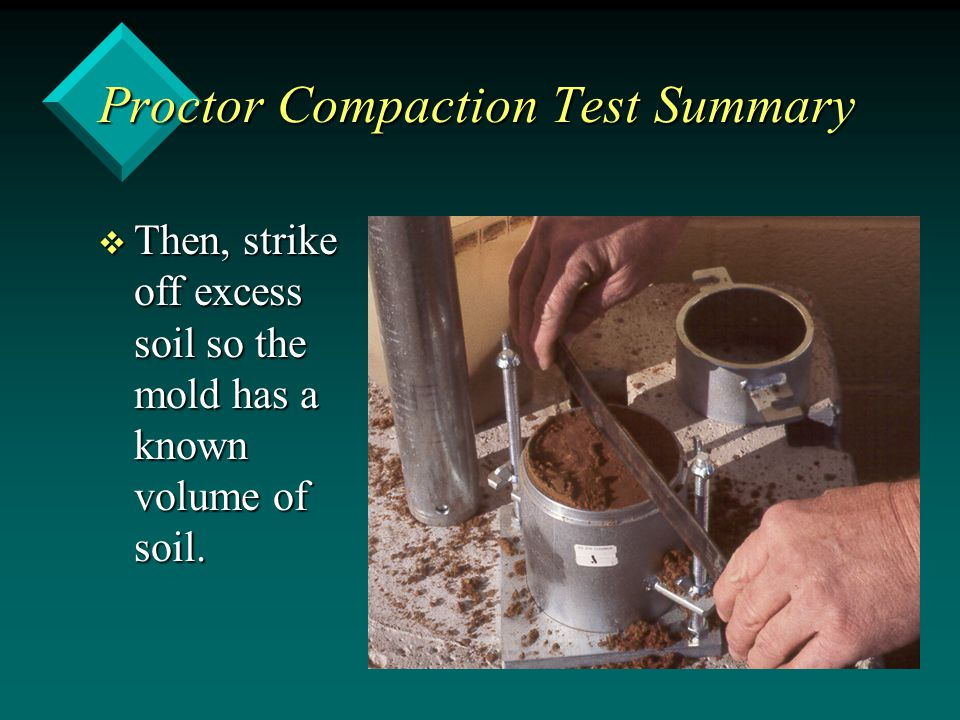 Proctor Compaction Test Summary